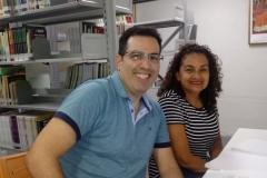 Álvaro Carvalho professor e  Elenilda Lima aluna